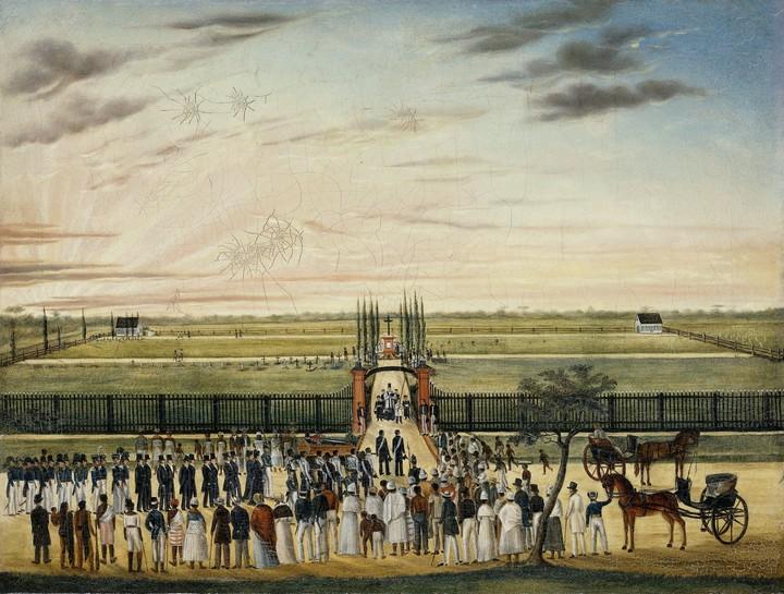 1843 1845 Begrafenis Janssen Rijksmuseum