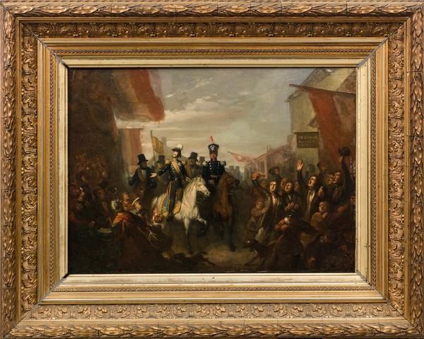 2018 05 schilderij intocht Willem II burgemeesterskamer