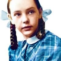 Marie Jes van Ierlant op 12 jarige leeftijd ingekleurde foto