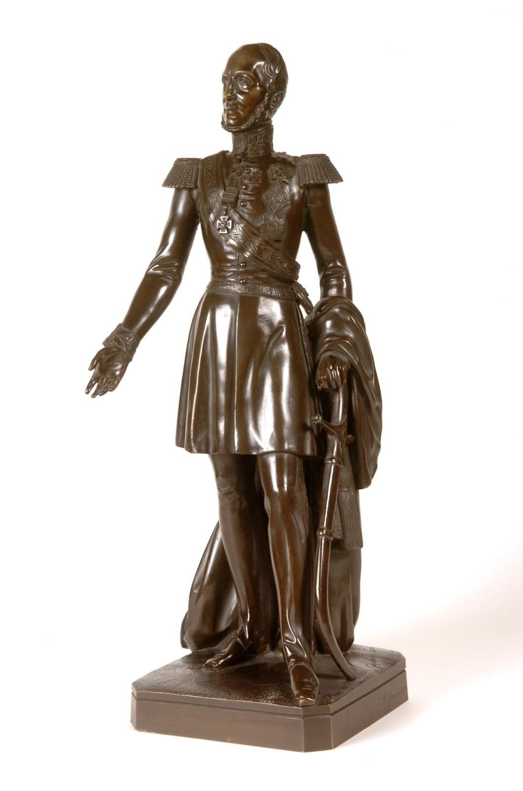 Willem II model standbeeld op de Heuvel 1854
